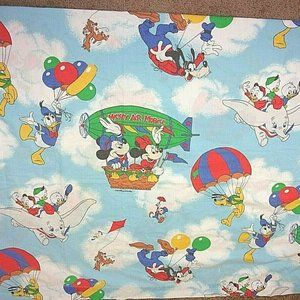 Disney Flat Sheet Mickey Air Mobile Twin Vintage